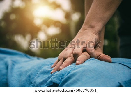 Shutterstock Emergency CPR on a Man who has Heart Attack , One Part of the Process Resuscitation (First Aid)