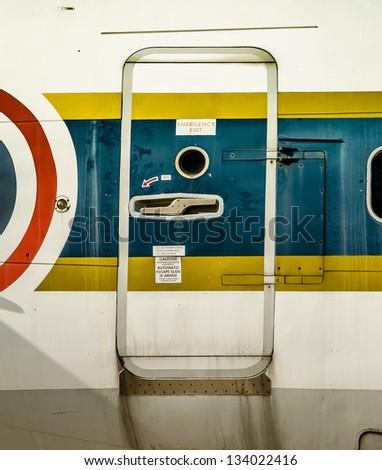 Emergency door of a plane