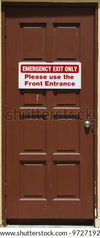 Emergency escape door