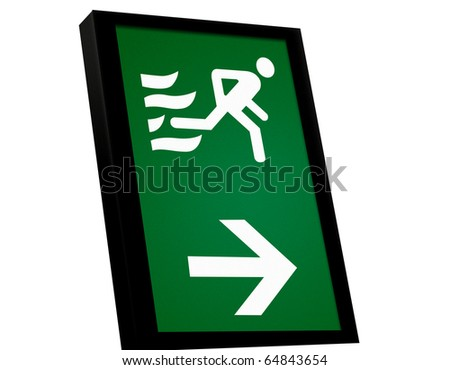 emergency exit sign. stock photo : EMERGENCY EXIT