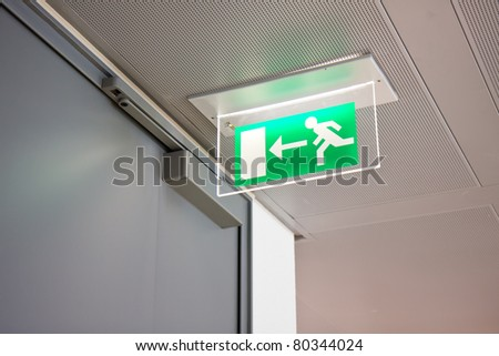 emergency exit sign in a building