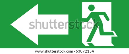 EMERGENCY EXIT SIGN LEFT SIDE
