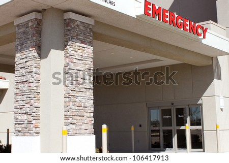 Emergency hospital entrance
