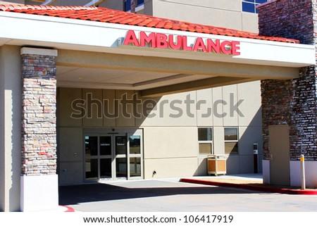 Emergency hospital entrance