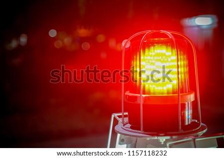 emergency light in night time/ emergency light/Siren light  Stockfoto ©
