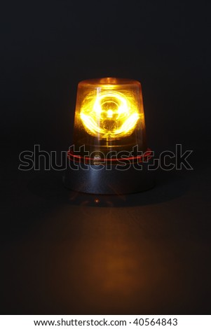 Emergency light on dark background
