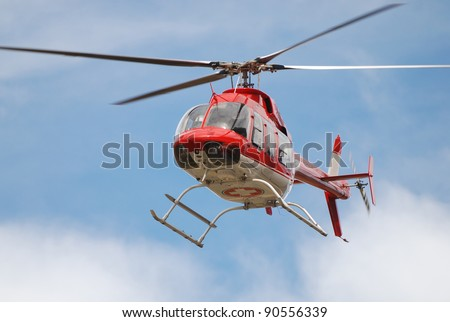 Emergency Medical Helicopter in flight