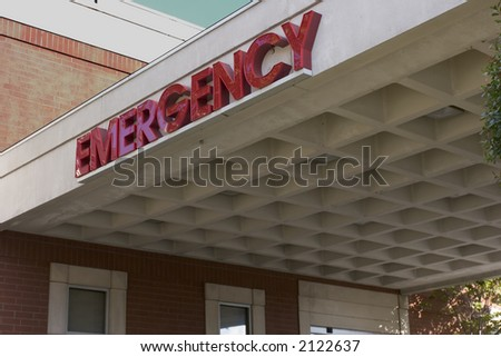 Emergency Room entrance with large \