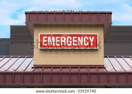 Emergency sign in hospital