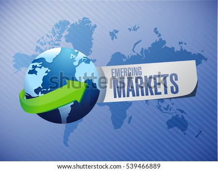Emerging market concept illustration design graphic
