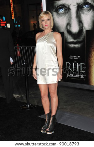 """Emily Bergl at the world premiere of """"The Rite"""" at Grauman's Chinese Theatre, Hollywood. January 26, 2011  Los Angeles, CA Picture: Paul Smith / Featureflash"""