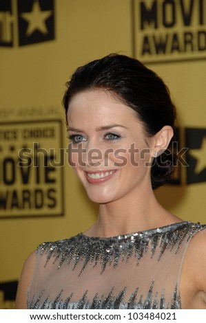 Emily Blunt  at the 15th Annual Critic's Choice Awards, Hollywood Palladium, Hollywood, CA. 01-15-10