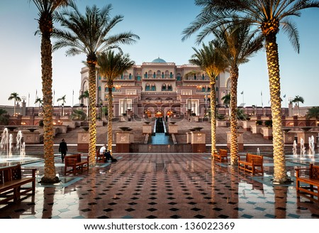 Emirates palace is one of the most expensive hotel in Arab Emirates build at the cost of �£3.9 billion.