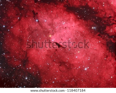 emission nebula in constellation Cygnus