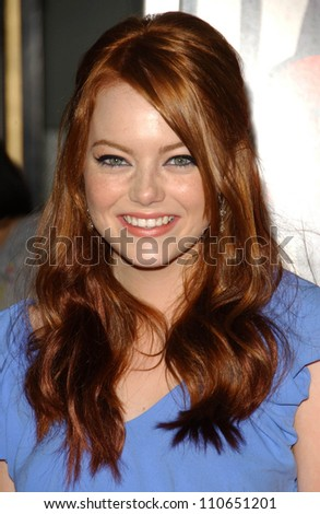 "Emma Stone at the Los Angeles Premiere of ""Superbad"". Grauman's Chinese Theatre, Hollywood, CA. 08-13-07 - stock photo"