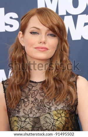 Emma Stone at the 2011 MTV Movie Awards Arrivals, Gibson Amphitheatre, Universal City, CA. 06-05-11