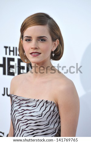 "Emma Watson at the world premiere of her movie ""This Is The End"" at the Regency Village Theatre, Westwood. June 3, 2013  Los Angeles, CA"