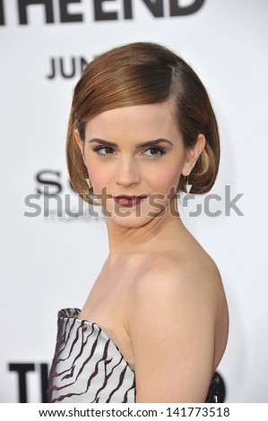 """Emma Watson at the world premiere of her movie """"This Is The End"""" at the Regency Village Theatre, Westwood. June 3, 2013  Los Angeles, CA"""