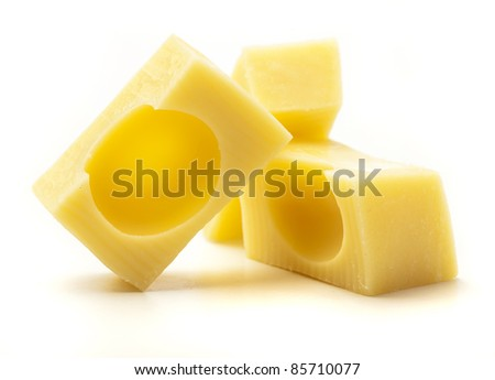 emmental cheese isolated on a white background