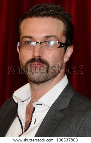 Emmett J Scanlan arriving for the British Soap Awards 2012 at London TV Centre, South Bank, London. 28/04/2012 Picture by: Steve Vas / Featureflash