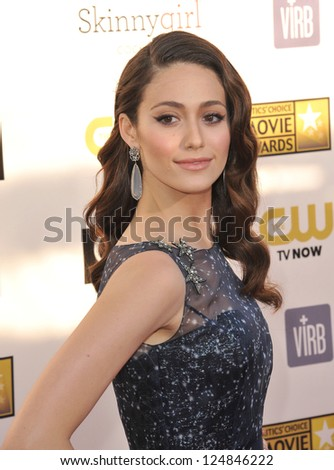 Emmy Rossum at the 18th Annual Critics' Choice Movie Awards at Barker Hanger, Santa Monica Airport. January 10, 2013  Santa Monica, CA Picture: Paul Smith