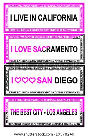EMO Stamps for the state of California The second set - stock photo
