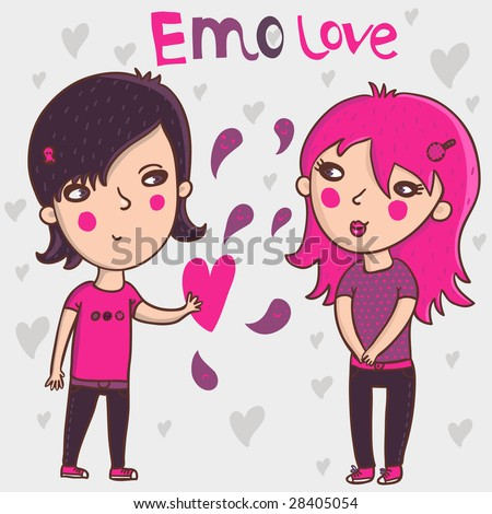 cartoons in love. emo cartoons in love. emo
