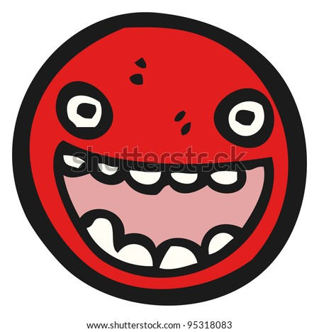 emoticon face cartoon (raster version)