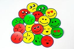 Emoticons of all emotions. Ideal for emotional educators. emotional intelligence.