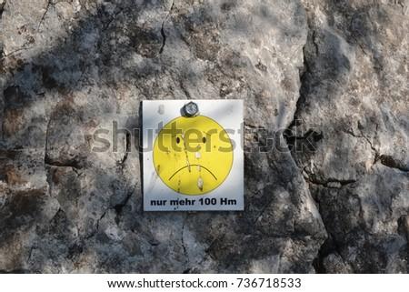 Emotikon on Attersee klettersteig - only 100 height meters left Stock fotó ©