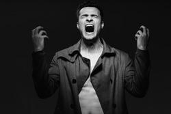 Emotion despair and fear night rage