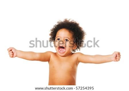 Emotional portrait of a little child