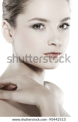 emotions, cosmetics, isolated on a white background