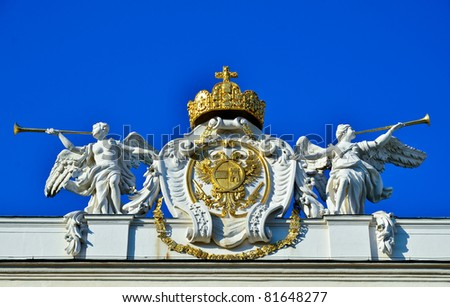 "emperors crown Symbol at ""Hofburg"" Vienna, Austria"