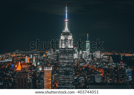 Empire state stock photo
