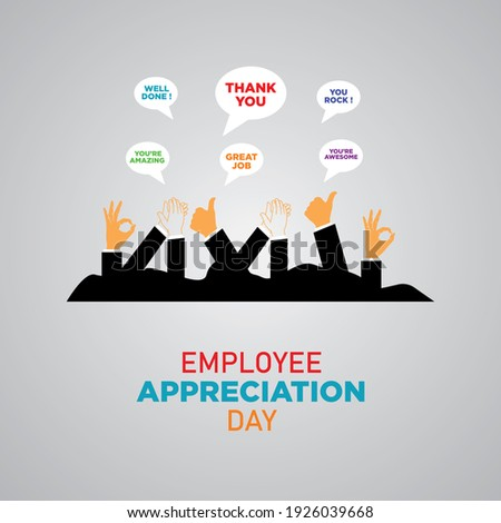 Employee Appreciation Day. First Friday in March. Holiday concept. Template for background, banner, card, poster. Сток-фото ©