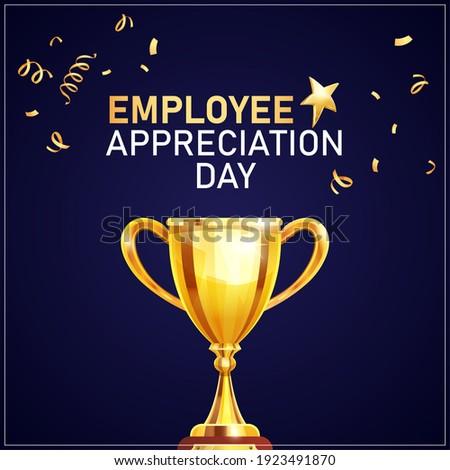 Employee Appreciation Day. Winner cup Background Сток-фото ©