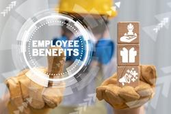 Employee Benefits Industry Concept. Industrial Worker Perks. Engineer allowance benefit.