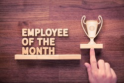 Employee of the month and human resources concepts.