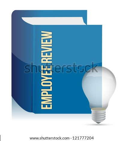 employee review concept illustration design over a white background
