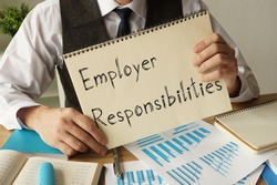 Employer Responsibilities is shown on the conceptual business photo