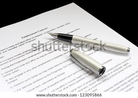 Employment contract - stock photo