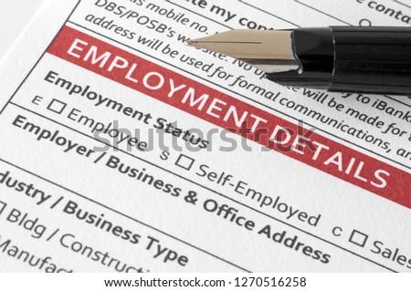 Employment details document #1270516258