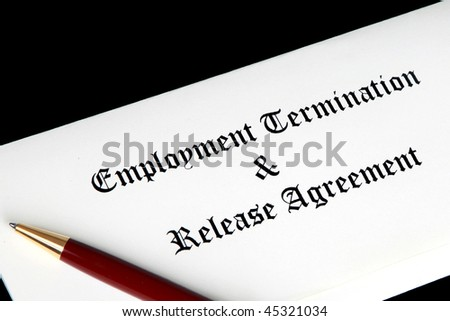 Employment Termination And Release Agreement Stock Photo