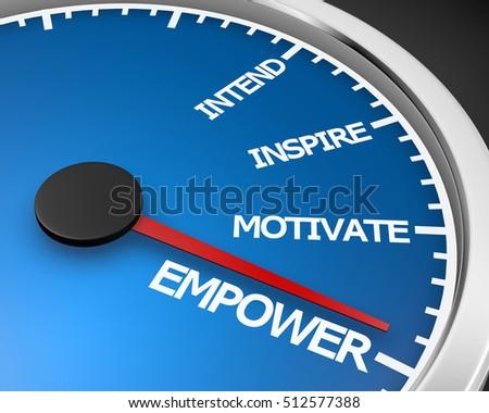 Empower Speedometer 3d Illustration rendering