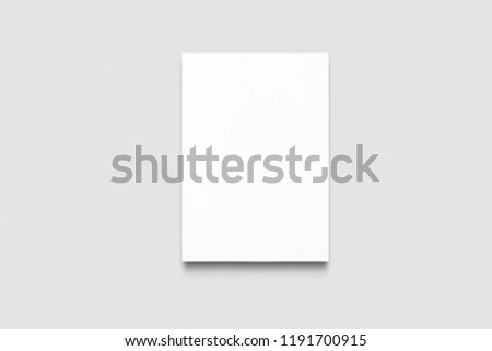 Empty A4 paper mockup  isolated on white background