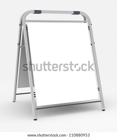 Empty advertising stand, 3d rendering