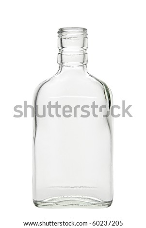 Empty alcohol bottle. Isolated on white background, with clipping path.