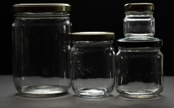 empty and reusable glass jars to preserve food