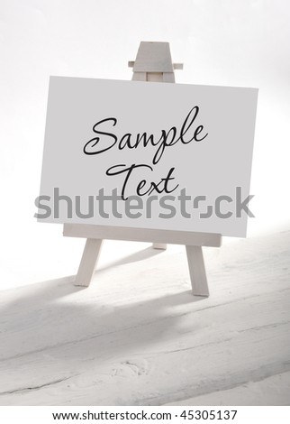 Empty artists canvas on an easel, put your own image on it